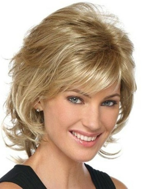 Mid length layered haircuts for round faces